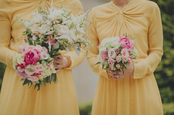 unique yellow bridesmaids' dresses