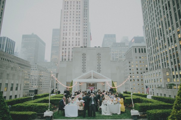 timeless rooftop wedding in NYC decor