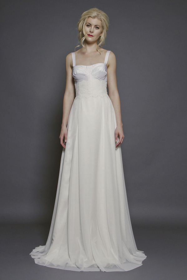 Veronica Sheaffer bustier bodice wedding dress