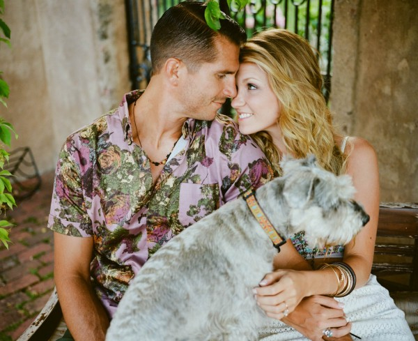 engagement shoot with pets