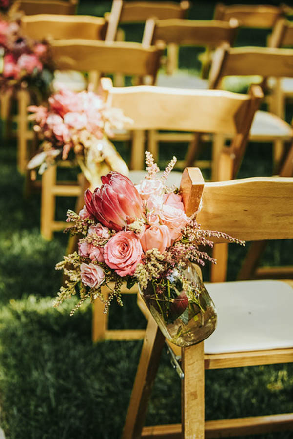 vintage Southern garden wedding ceremony decor, photo by Streetlight Republic | via junebugweddings.com