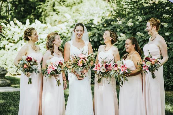 vintage Southern garden wedding bridesmaids fashion by David's Bridal, photo by Streetlight Republic | via junebugweddings.com