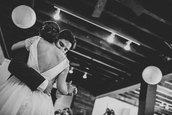 elegant DIY wedding first dance at the historic Prallsville Mills reception, photo by Storytellers & Co. | via junebugweddings.com