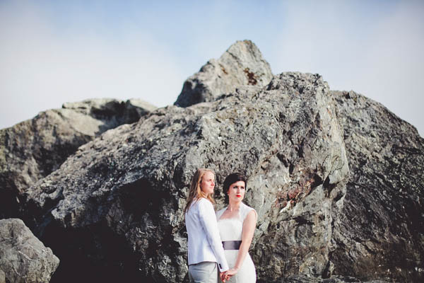 Northern California coast couple portrait