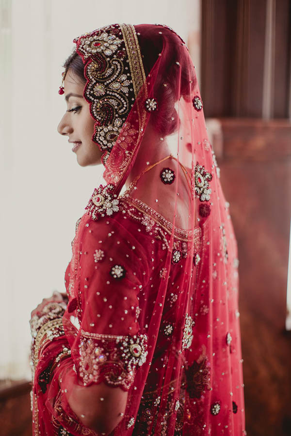 traditional Indian bridal fashion and veil