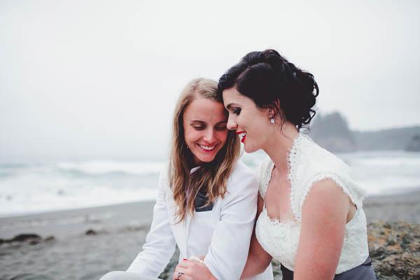 romantic same-sex couple's portrait