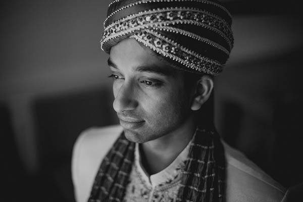 traditional Indian groom portrait
