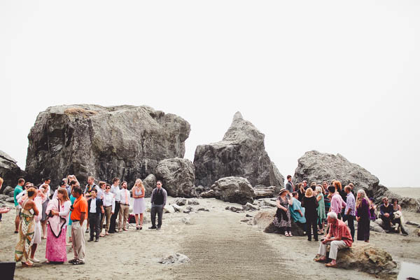 romantic California coast same-sex wedding ceremony