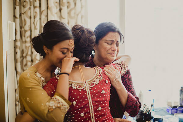 traditional Indian wedding sentimental hug