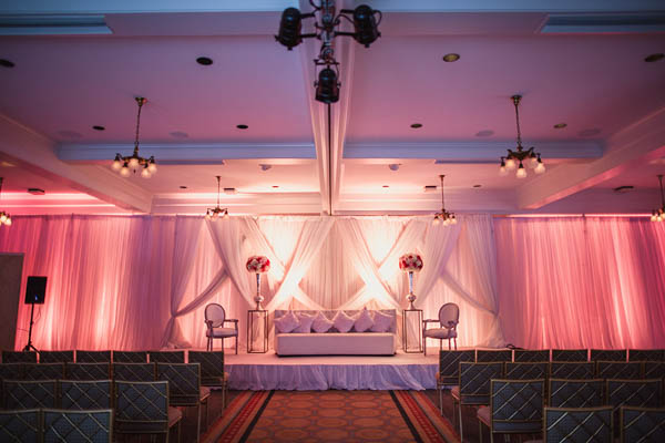 elegant pink Indian wedding ceremony space