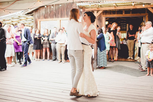 seaside wedding reception dance party