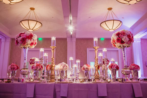 elegant Indian wedding reception decor