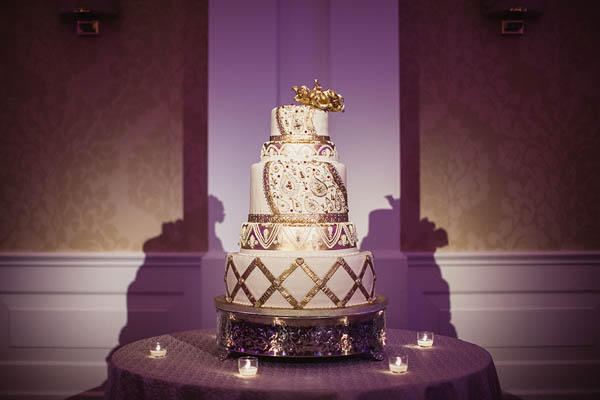 sophisticated Indian wedding intricate cake