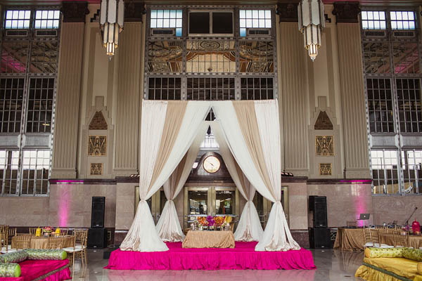 elegant Indian wedding ceremony space