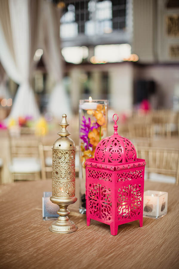 vibrant Indian wedding table decor