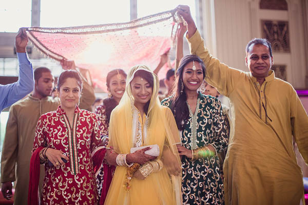 traditional Indian wedding ceremony bridal entrance
