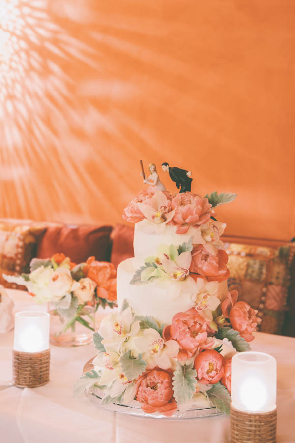 intimate beach wedding rustic chic cake by One Small Bite, photo by Chris Glenn | via junebugweddings.com