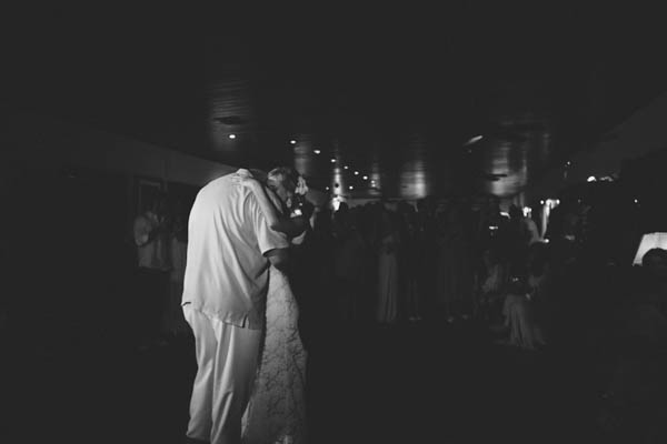 intimate beach wedding couple's dance, photo by Chris Glenn | via junebugweddings.com