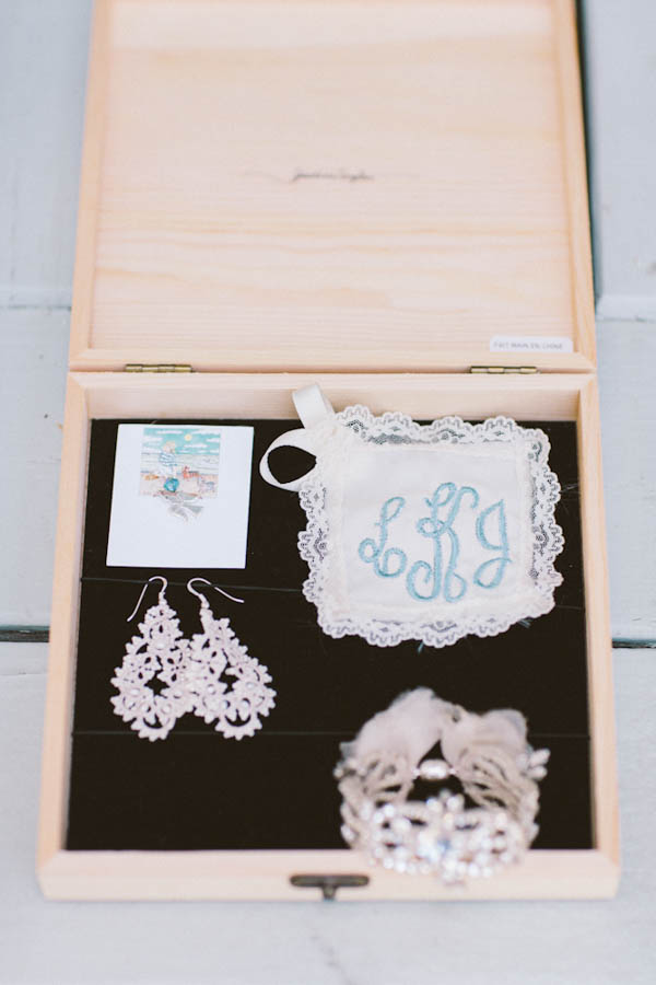 intimate beach wedding bridal accessories by BHLDN, photo by Chris Glenn | via junebugweddings.com