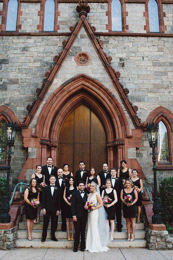 stylish wedding party portrait