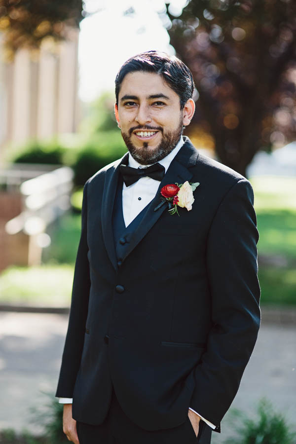 stylish groom's portrait