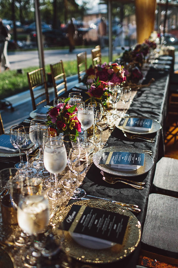 modern and glamorous tablescape