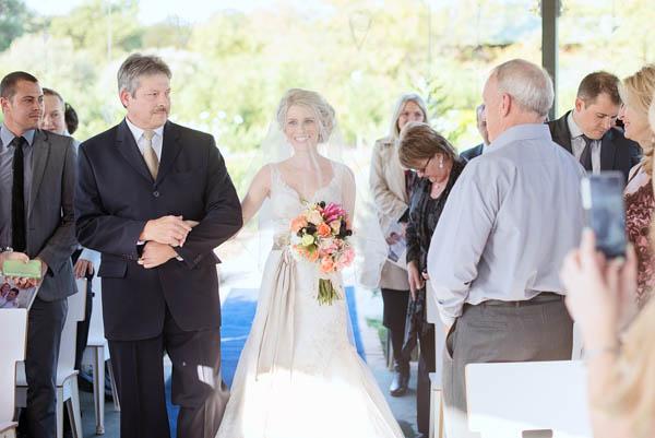 beautiful bridal entrance