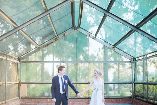 greenhouse couple's portrait
