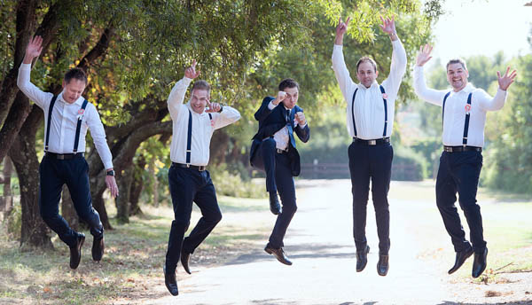 fun groomsmen portrait