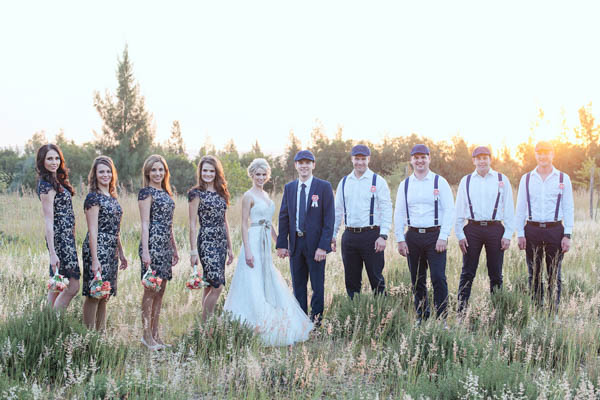 stylish navy wedding party fashion