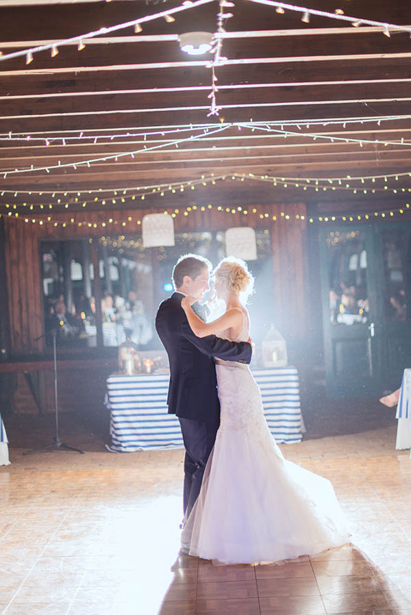 beautiful barn wedding first dance