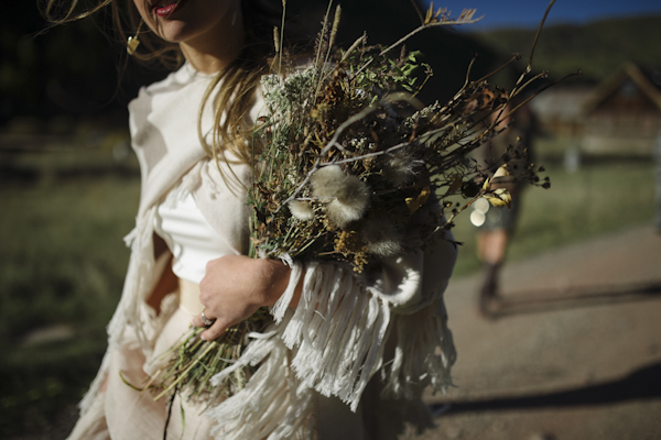 rustic mountain wedding bouquet, photo by Chowen Photography | via junebugweddings.com