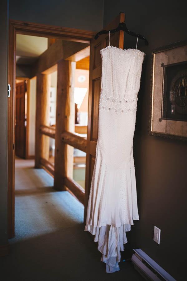 simple and elegant Nicole Miller wedding dress