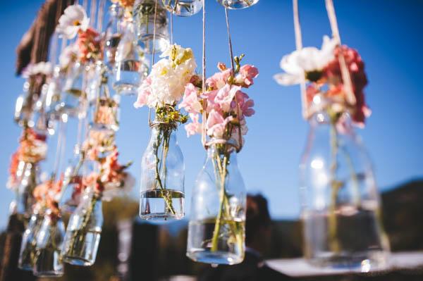 hanging flower vase decor