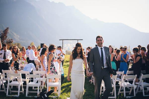 rustic farm wedding ceremony exit