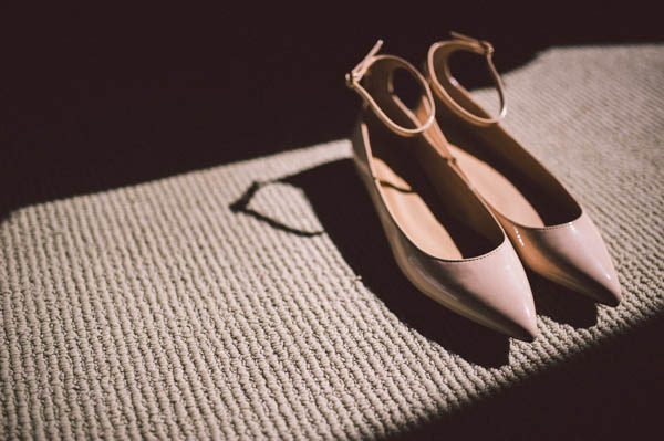 nude patent pointed wedding flats