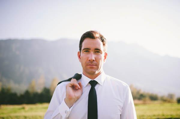 natural groom's portrait