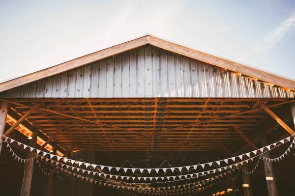 rustic DIY farm reception space