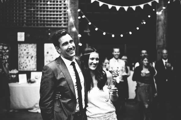couple's reception portrait
