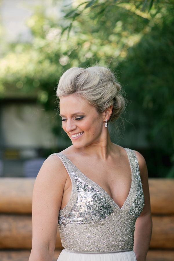 Sequin Bodice Wedding Dress By Rachel Gilbert Photo Stark Photography Via Junebugweddings