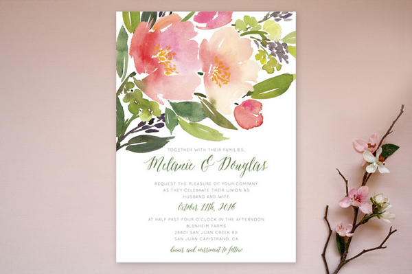 Seasonal Wedding Invitations from Minted Junebug Weddings