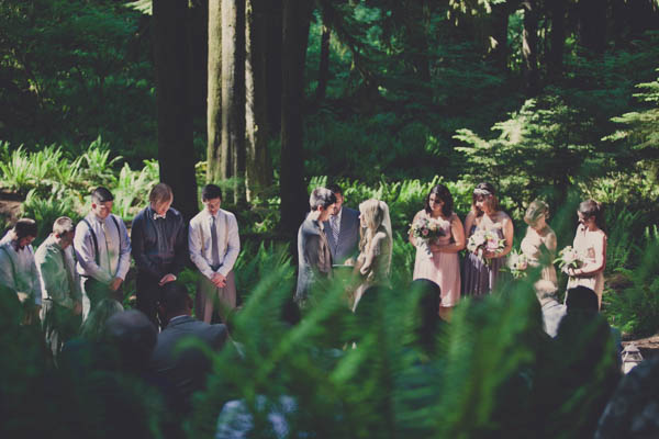 gorgeous forest wedding ceremony landscape