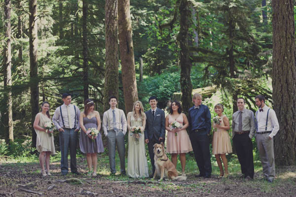 mismatched bridal party fashion