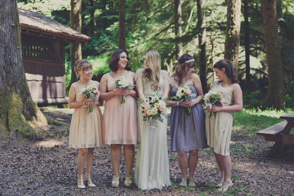 mismatched short bridesmaids dresses