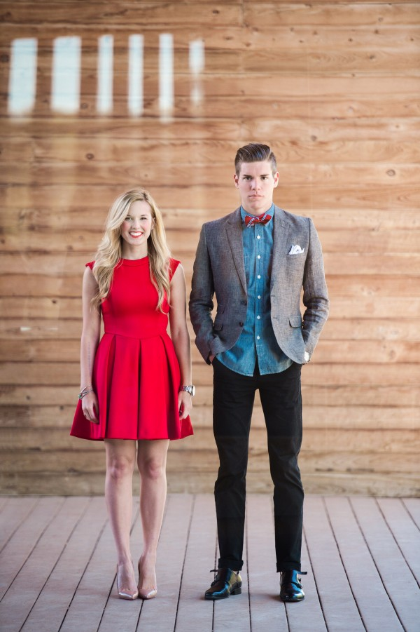 fashionable engagement shoot