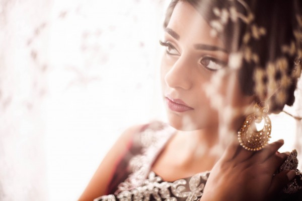 bridal style portrait