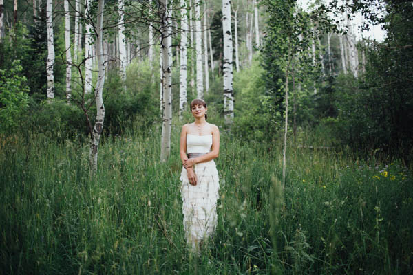 natural bridal portrait