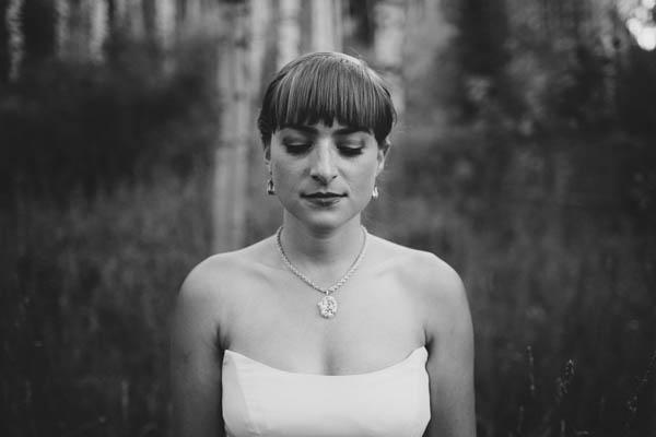 artsy bridal portrait