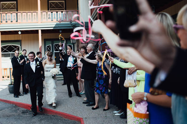 celebratory couple's entrance