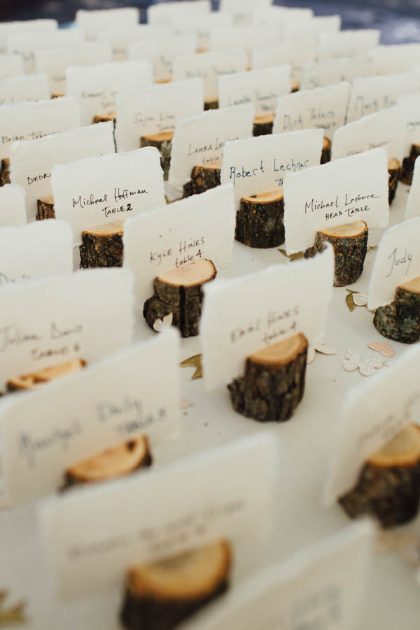 natural reception place cards